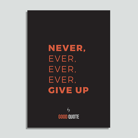 Never, ever, ever, ever, give up - Poster