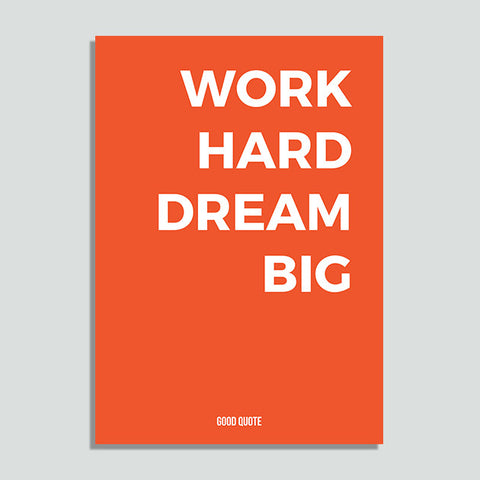 Just Colors - Work Hard Dream Big