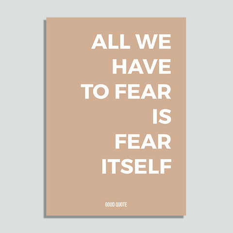 Just Colors - All We Have To Fear is Fear Itself