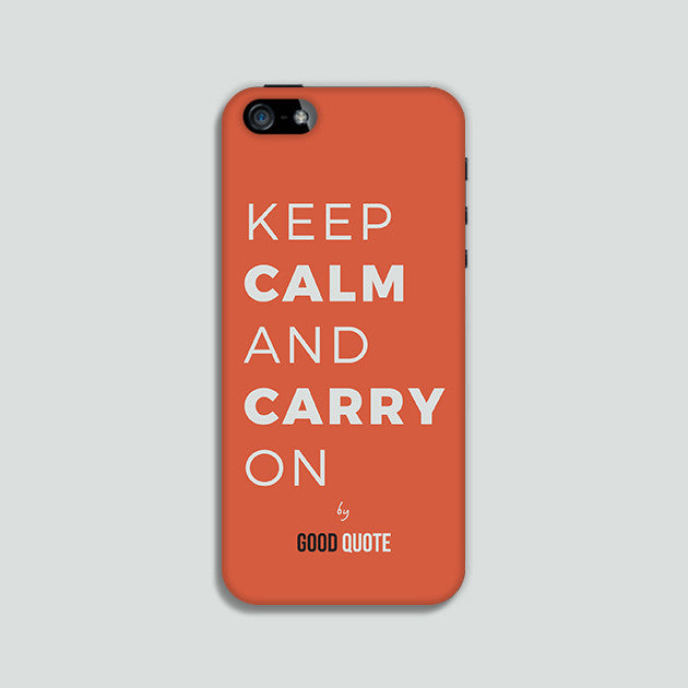 Keep calm and carry on - Phone case