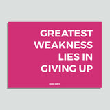 Just Colors - Greatest Weakness Lies In Giving Up