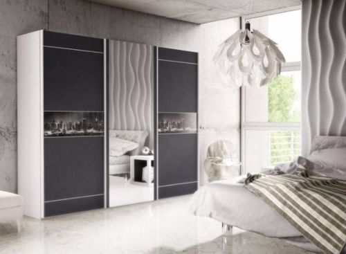 Brand New Modern Bedroom Wardrobe 3 Sliding Door Mirror ...