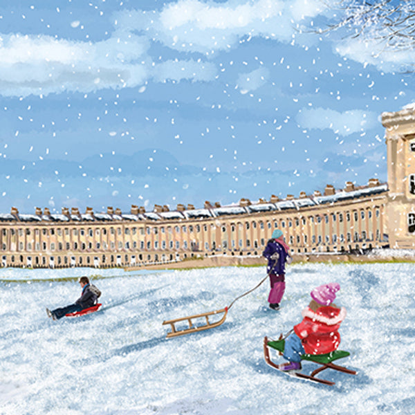 Royal Crescent at Christmas
