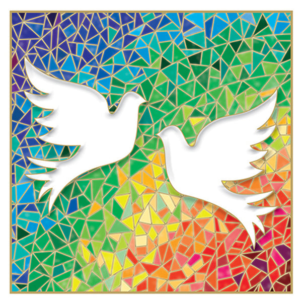 Stained Glass Doves