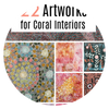 22 Artworks for Coral Interiors