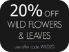 20% Off Wild Flower and Leaves paintings