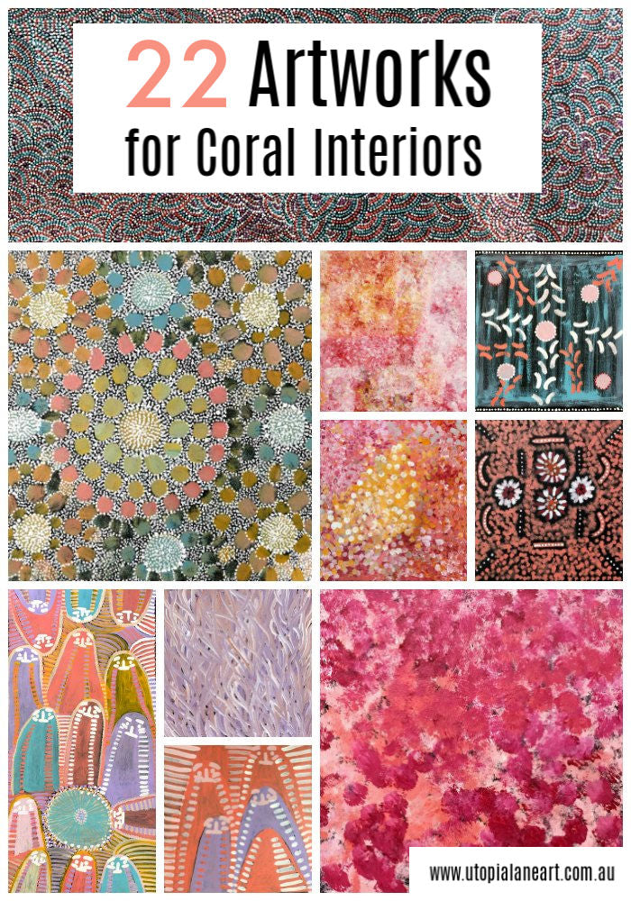 Australian artwork for coral interiors