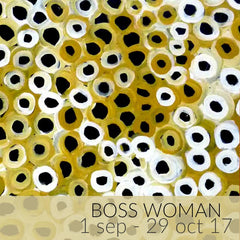 Boss Woman Exhibition - A Collection of artworks by Aboriginal artist Lena Pwerle