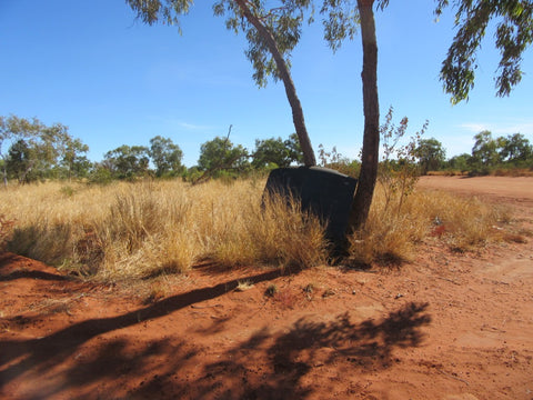 Blank road sign Utopia Central australia