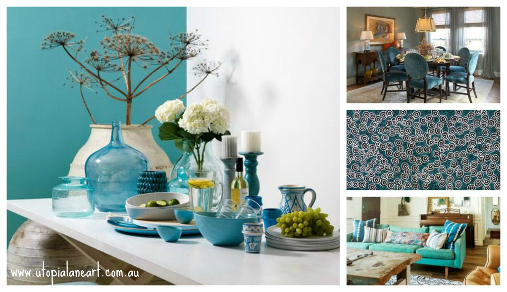 Decorate your interior with turquoise - tips and advice on decorating with this exotic colour #utopialane #interiors #decorating #turquoise