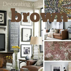Decorating with Brown article