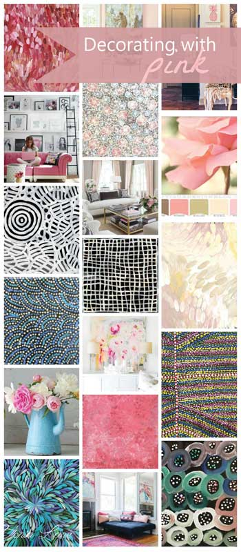 Decorating with pink and Aboriginal art