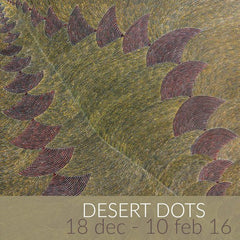 Desert Dots exhibition featuring paintings by Utopia Aboriginal artists
