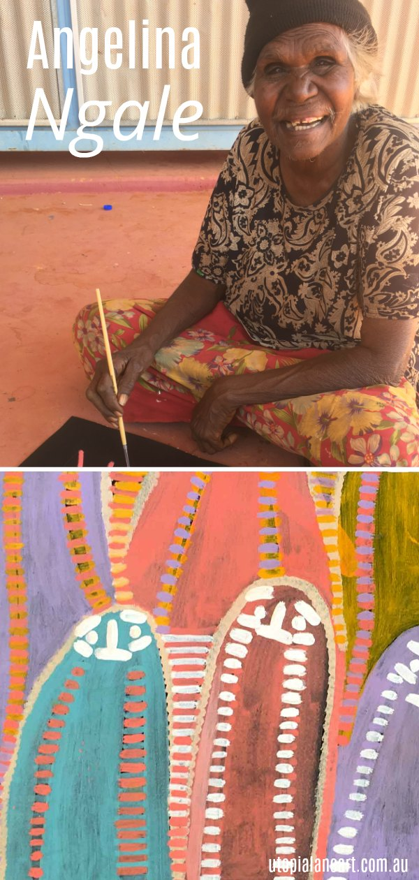 Learn about Aboriginal artist Angelina Ngale