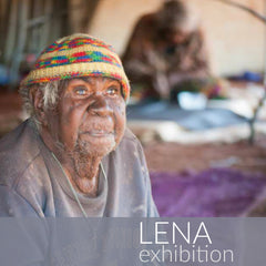Aboriginal art exhibition titled Lena featuring works by Lena Pwerle