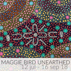 Aboriginal Art Exhibition titled Maggie Bird Unearthed