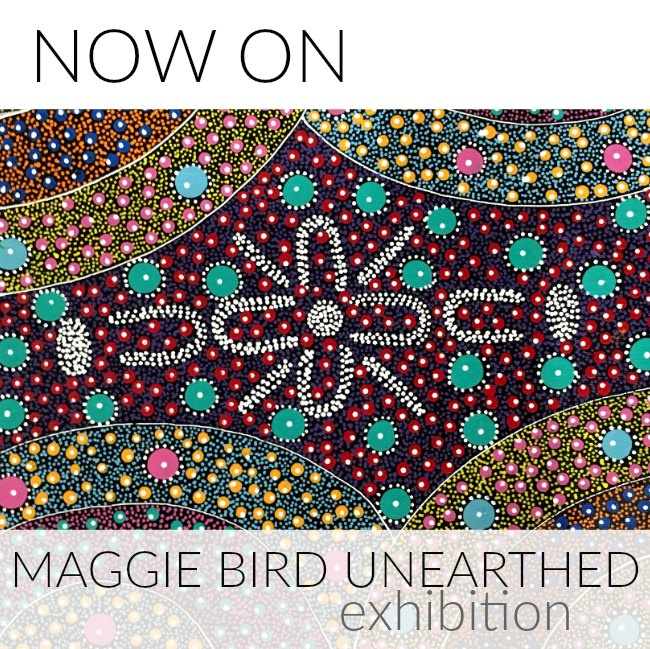 Now On: Maggie Bird Unearthed Exhibition at Utopia Lane