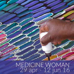 Medicine Woman exhibition featuring Jeannie Mills Pwerle paintings