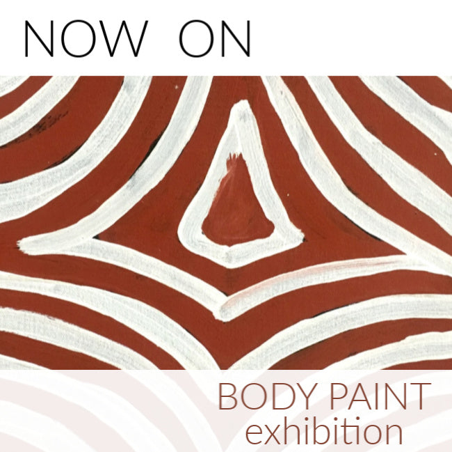 Aboriginal art exhibition: Body Paint. Now On.
