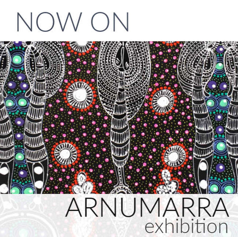 Now On: Arnumarra Exhibition. An exhibition of works by Colleen Wallace Nungari.