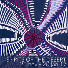 Spirits of the Desert exhibition featuring Angelina Ngale Pwerle and Colleen Wallace Nungari paintings