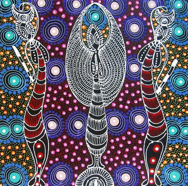 Dreamtime Sisters by Colleen Wallace (SOLD). Shop from Utopia Lane Art #AboriginalArt