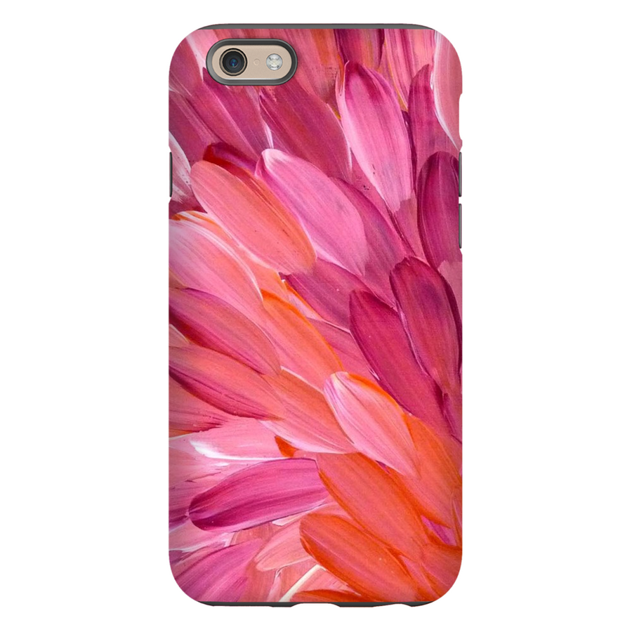Pink Leaves Phone Cover by Gloria Petyarre