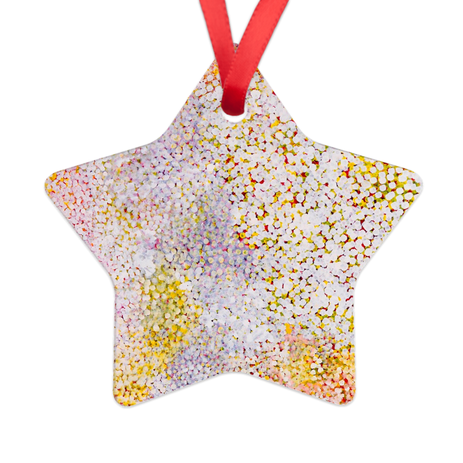 Polly Ngale Star Ornament-by-Desert Doll Designs-Ornament-at-Utopia-Lane-Gallery #AboriginalArt #Desert Doll Designs