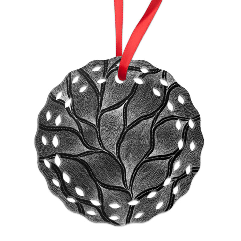 Monochrome Delvine Lacey Ornament