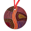 Elsie Round Ornament-by-Desert Doll Designs-Ornament-at-Utopia-Lane-Gallery #AboriginalArt #Desert Doll Designs