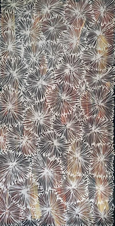 Country by Ruby Morton Kngwarrey (SOLD), 60cm x 30cm. Aboriginal Painting. #AboriginalArt #UtopiaLane