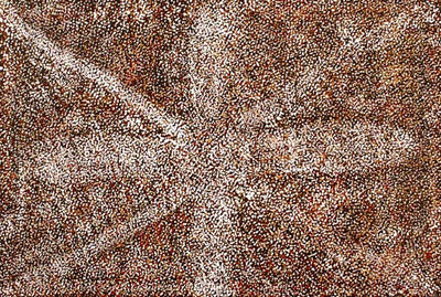 Bush Medicine by Patsy Long Kemarre (SOLD), 45cm x 30cm. Aboriginal Painting. #AboriginalArt #UtopiaLane