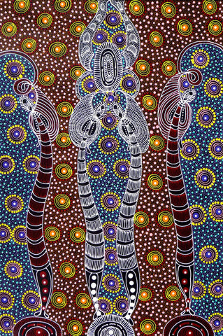 Dreamtime Sisters by Colleen Wallace Nungari. Shop from Utopia Lane Art #AboriginalArt