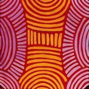 Aboriginal painting by Ada Bird Petyarre. Learn more at Utopia Lane.