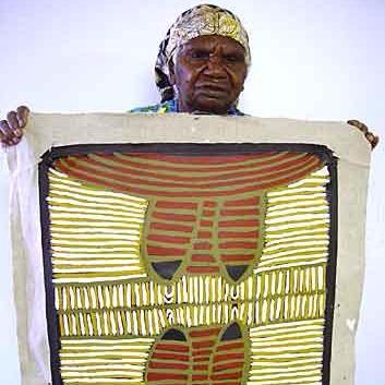 Awelye for Arnkerrthe by Ada Bird Petyarre by Ada Bird Petyarre, 60cm x 60cm. Australian Aboriginal Art.