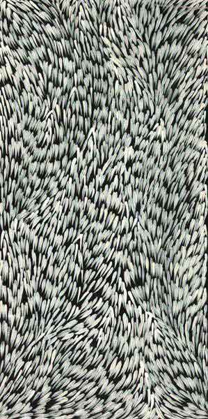 Leaves by Gloria Petyarre by Gloria Petyarre, 90cm x 45cm. Australian Aboriginal Art.