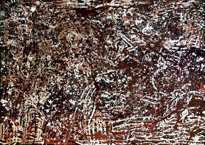 Creation of My Mother's Country by Barbara Weir by Barbara Weir, 210cm x 150cm. Australian Aboriginal Art.