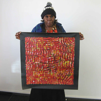Body Paint by Connie Petyarre, 60cm x 60cm. Aboriginal Painting. #AboriginalArt #UtopiaLane