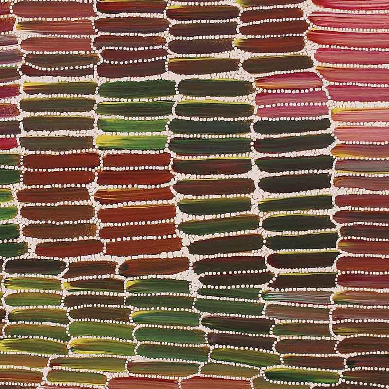 Anaty (Desert Yam) by Jeannie Mills Pwerle. Shop from Utopia Lane Art #AboriginalArt