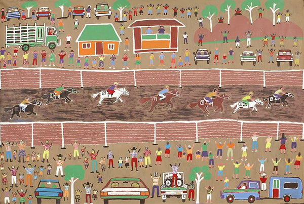 Harts Range Races by Dinny Kunoth Kemarre. Shop from Utopia Lane Art #AboriginalArt