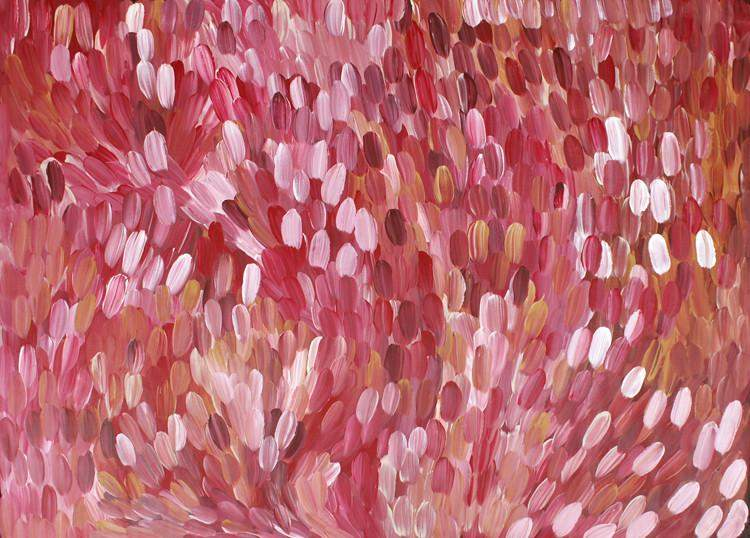 Leaves by Gloria Petyarre by Gloria Petyarre, 210cm x 150cm. Australian Aboriginal Art.