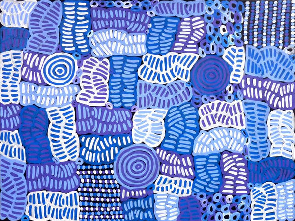My Mother's Country by Betty Mbitjana (SOLD). Shop from Utopia Lane Art #AboriginalArt