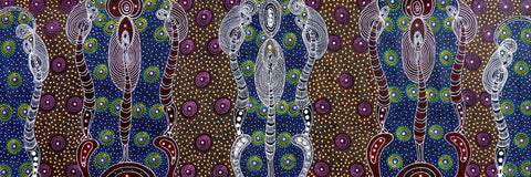 Dreamtime Sisters by Colleen Wallace. Shop from Utopia Lane Art #AboriginalArt
