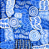 My Mother's Country by Betty Mbitjana (SOLD), 45cm x 45cm. Aboriginal Painting. #AboriginalArt #UtopiaLane