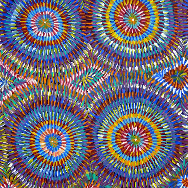Ngkwerlp (Wild Tobacco) by Violet Payne Ngale. Shop from Utopia Lane Art #AboriginalArt