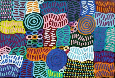 My Mother's Story by Betty Mbitjana. Shop from Utopia Lane Art #AboriginalArt