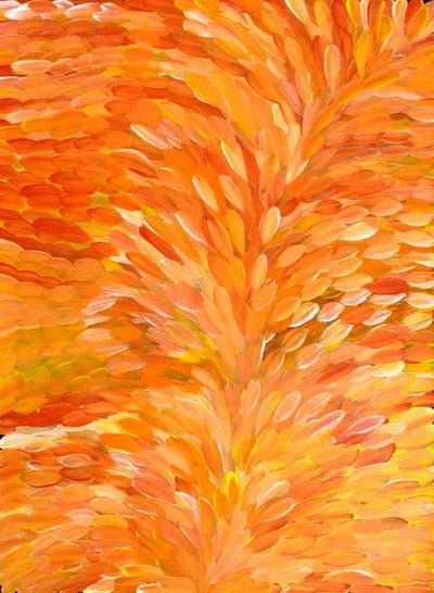 Leaves by Gloria Petyarre by Gloria Petyarre, 120cm x 90cm. Australian Aboriginal Art.