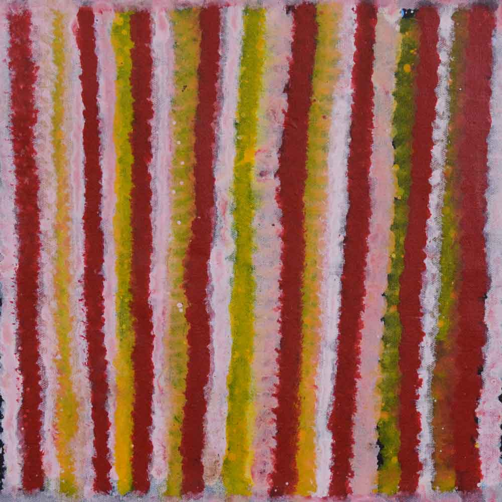 Conkerberry Dreaming by Matthew Mpetyane by Matthew Mpetyane, 30cm x 30cm. Australian Aboriginal Art.