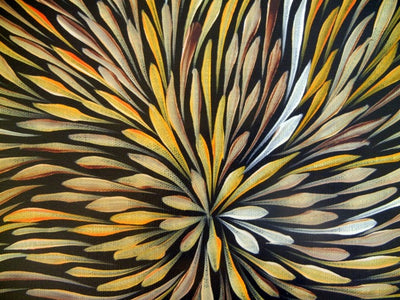 Wild Flowers by Sacha Long Petyarre (SOLD), 30cm x 30cm. Aboriginal Painting. #AboriginalArt #UtopiaLane