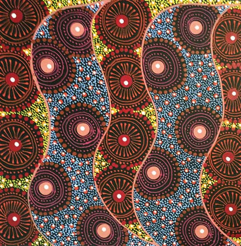 Alpar Seed Story by Karen Bird Ngale (SOLD). Shop from Utopia Lane Art #AboriginalArt
